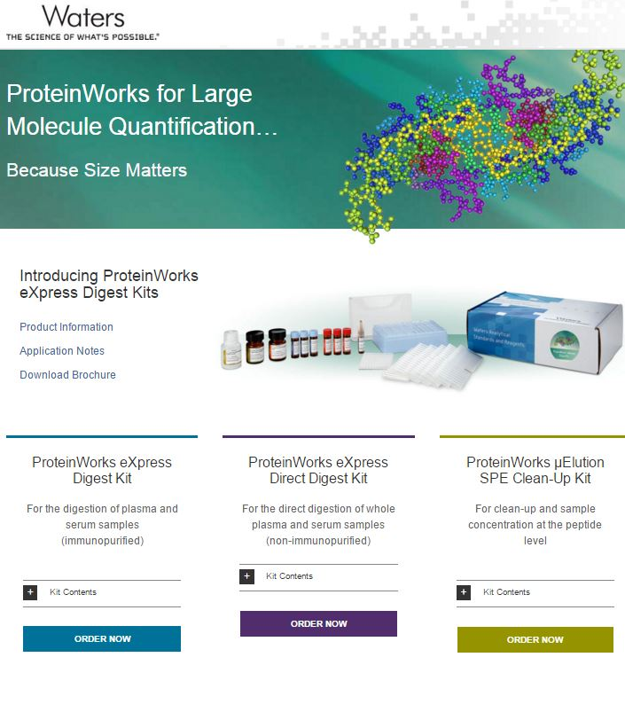 ProteinWorks, digest kits, large molecule quantification